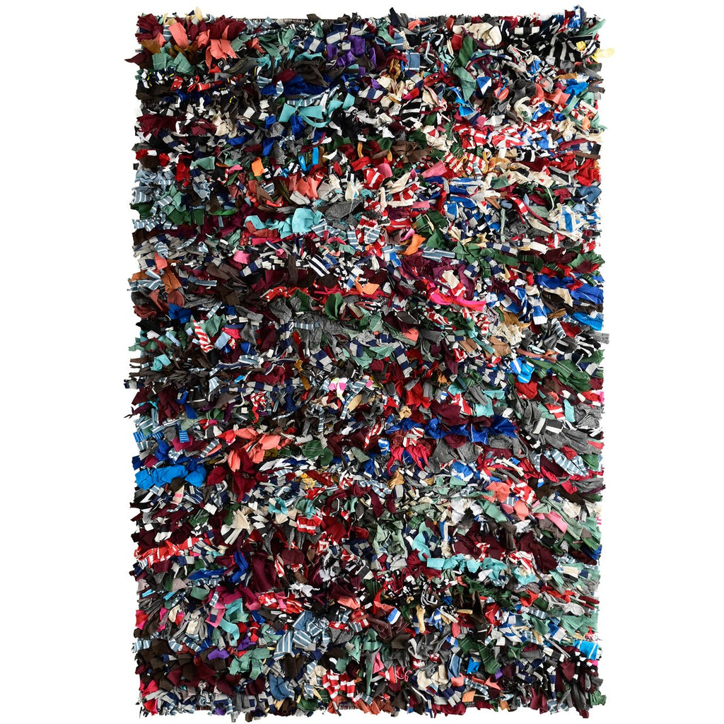Rainbow Children's Multi Color Shag Area Rug