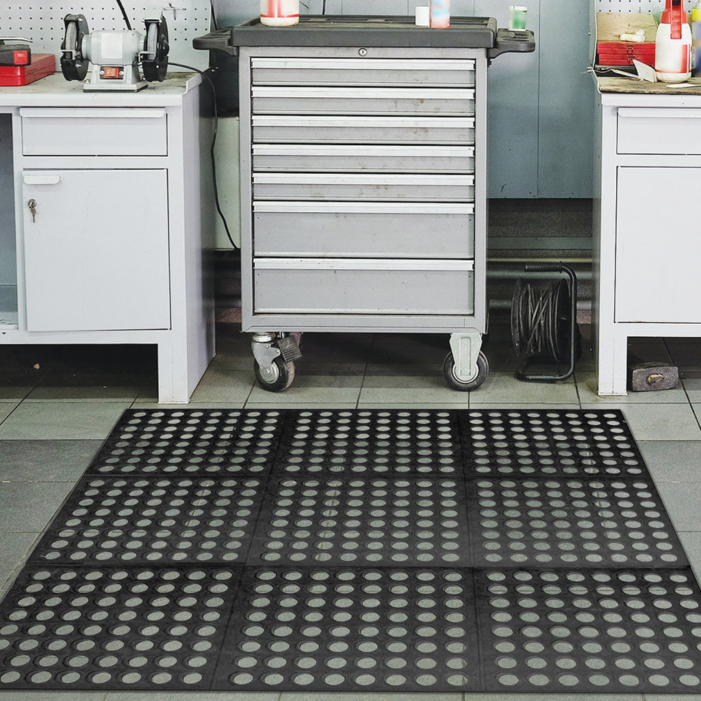 Anti-Fatigue Mat, Natural Rubber with Open Design, Heavy Duty and Weatherproof. Available in 3 different sizes and 2 thicknesses.