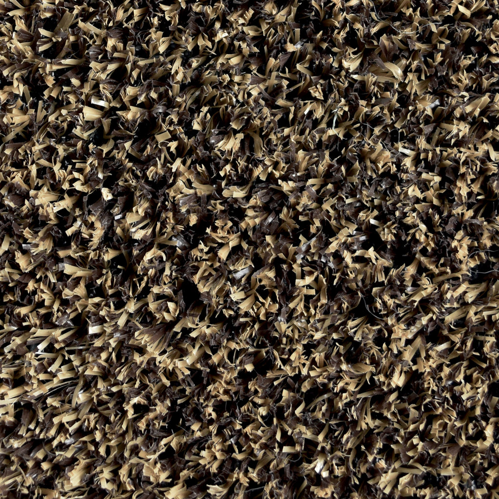 Artificial Turf Outdoor Area Rug Brown and Tan