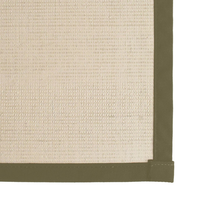 Bristol Natural Sisal Area Rug with Avocado Color Border