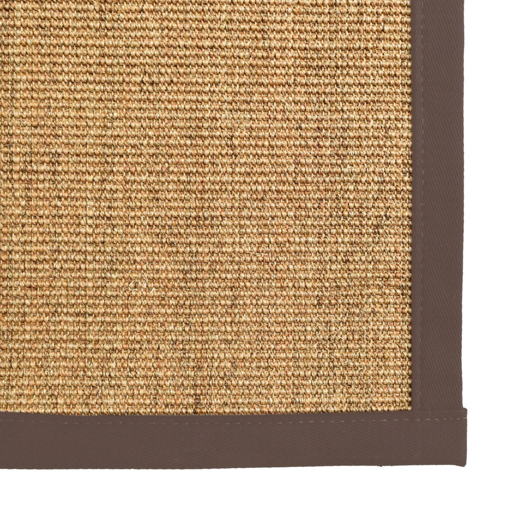 Bristol Natural Sisal Area Rug with Chocolate Brown Color Border