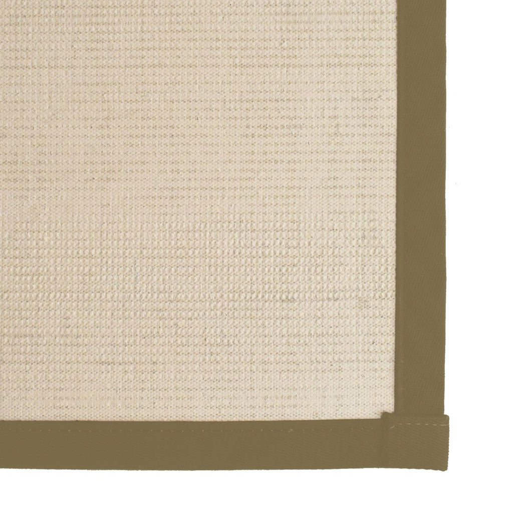 Bristol Natural Sisal Area Rug with Grey Green Color Border