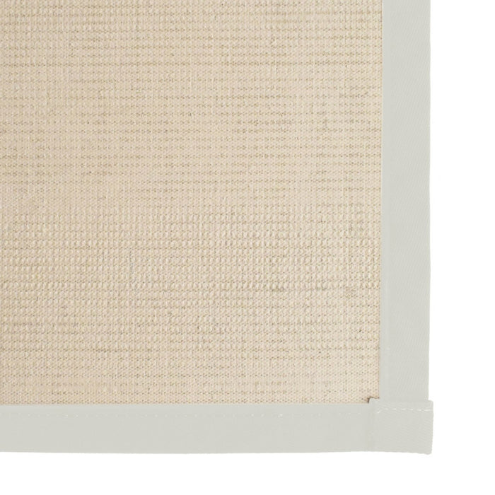 Bristol Natural Sisal Area Rug with Off White Color Border