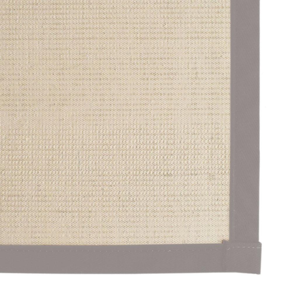 Bristol Natural Sisal Area Rug with Silver Color Border