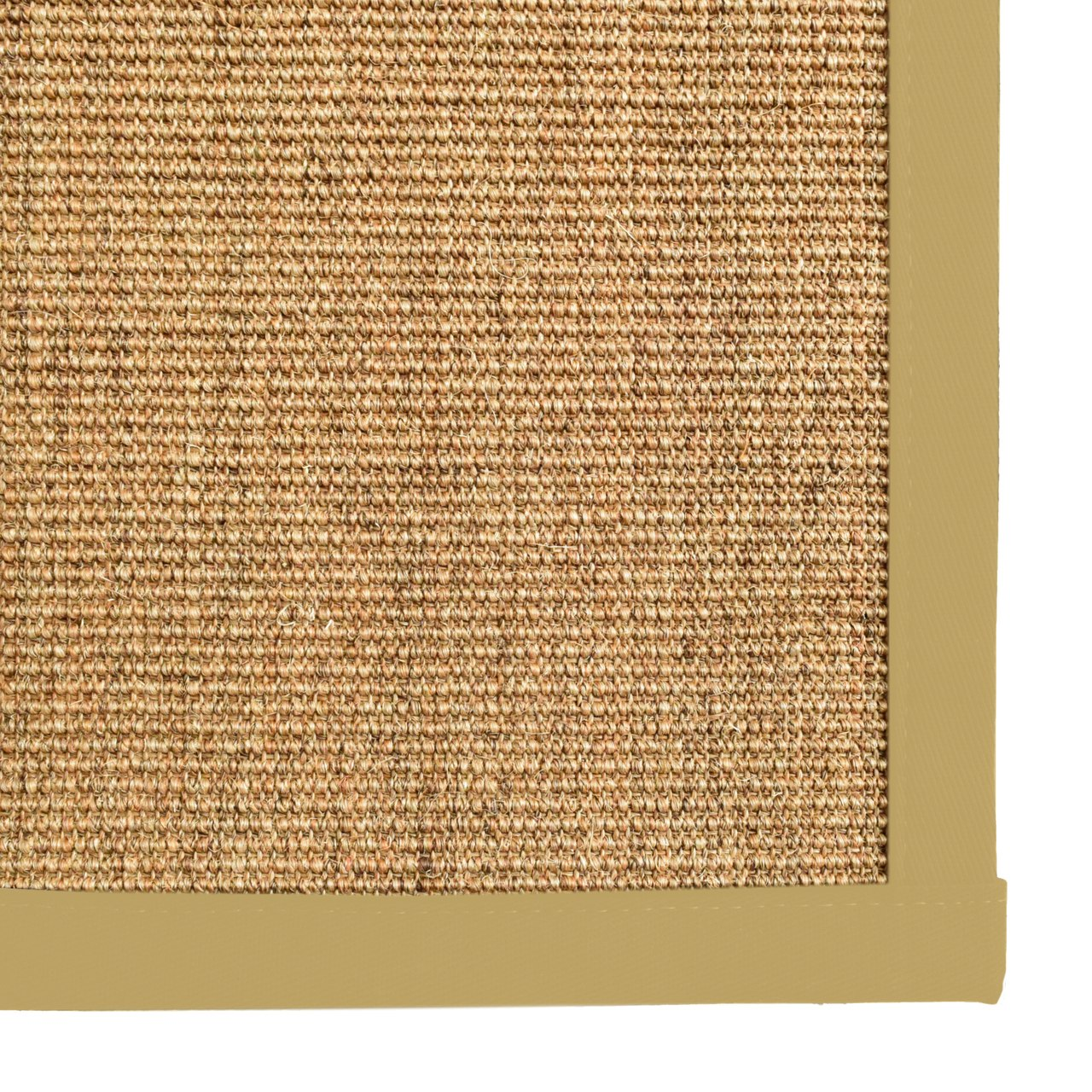 Bristol Natural Sisal Area Rug with Mustard Yellow Color