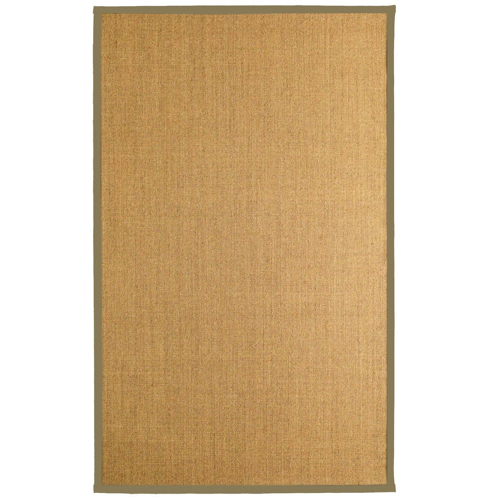 Bristol Natural Sisal Area Rug Beige Color Border iCustomRug