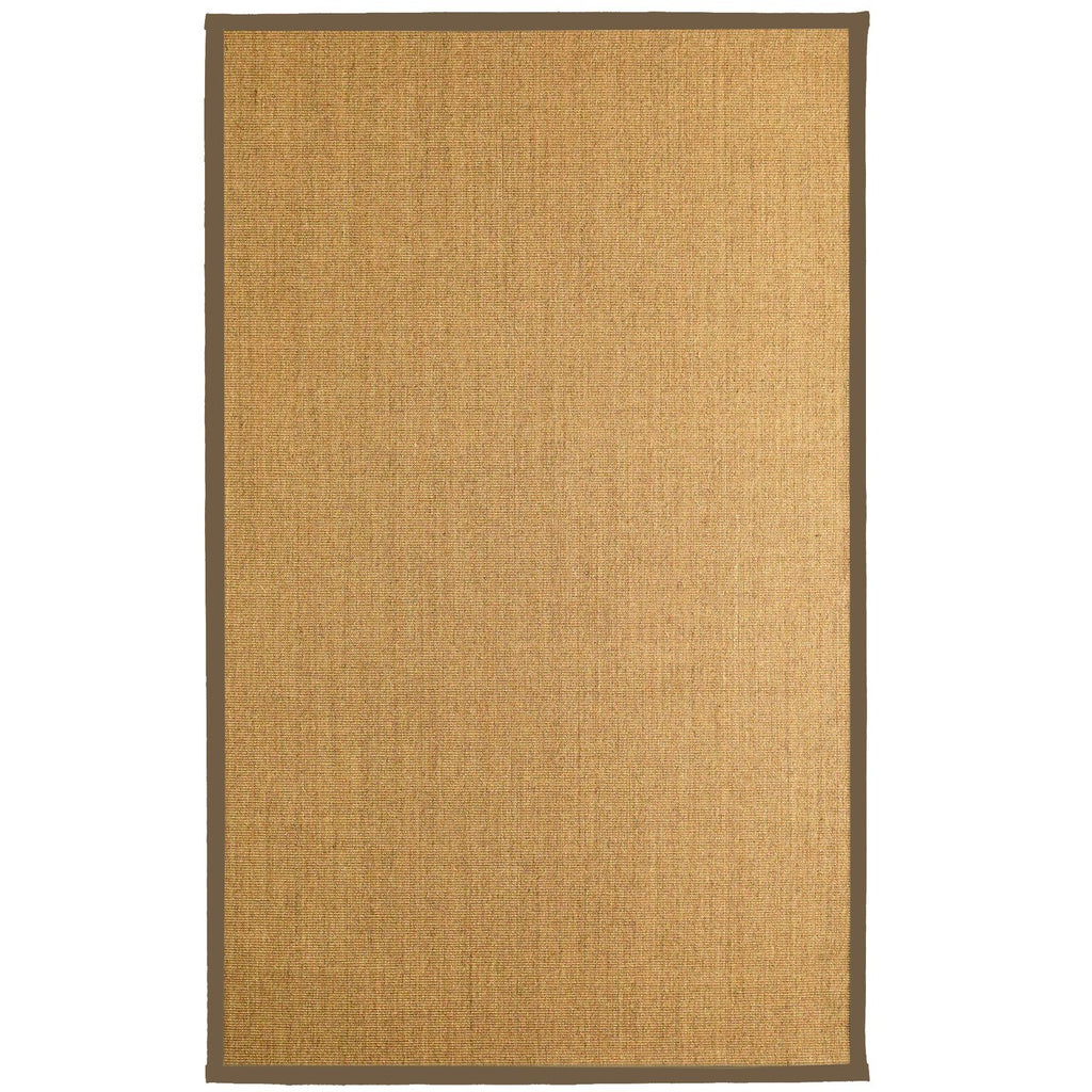 Bristol Natural Sisal Area Rug Taupe Color Border iCustomRug