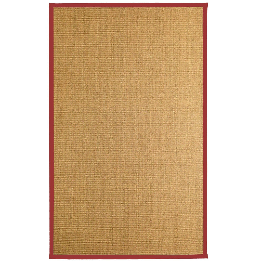 Bristol Natural Sisal Area Rug Red Color Border iCustomRug