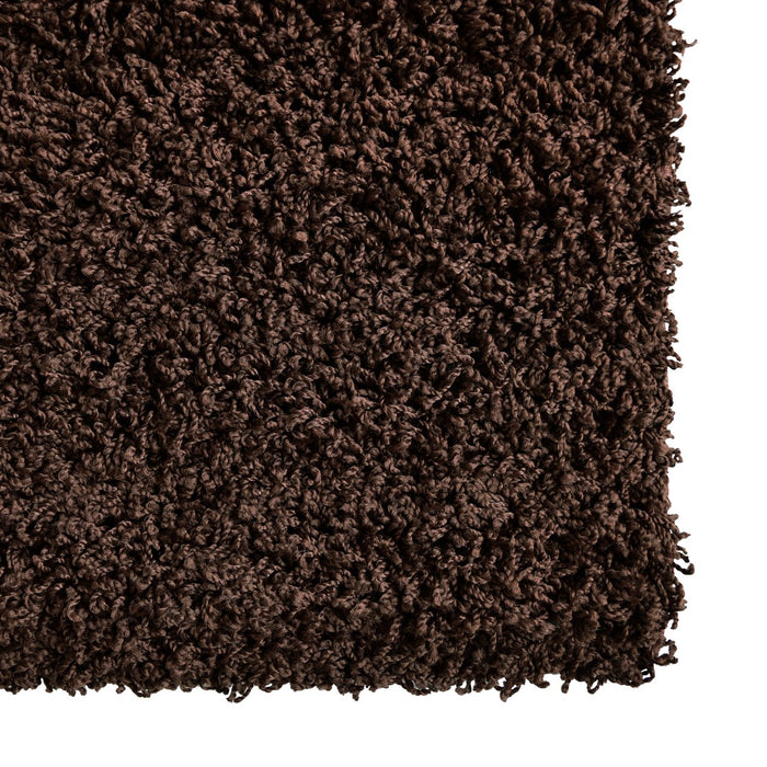 icustomrug dixie shag in chocolate brown area rug