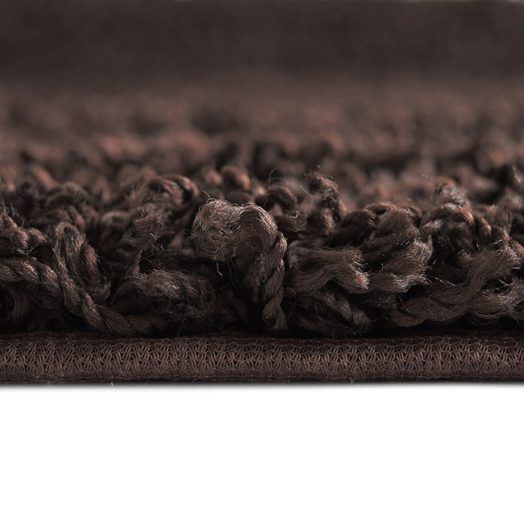 Dixie Cozy Soft and Dense Shag Chocolate Brown