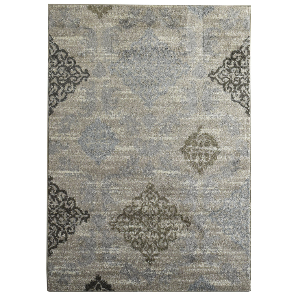 Medallions Neutral Tone Area Rug 4' x 6' iCustomRug