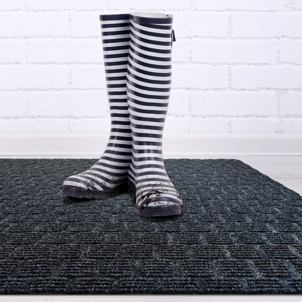 "Weather Warrior Heavy Duty Interior/Exterior 3/8"" Thick Utility Mats,Runners,Area Rug with Rubber Backing, 70 Custom Sizes For Hallway, Stairs, Commercial/Retail Space.   (3' and 4' Widths)"