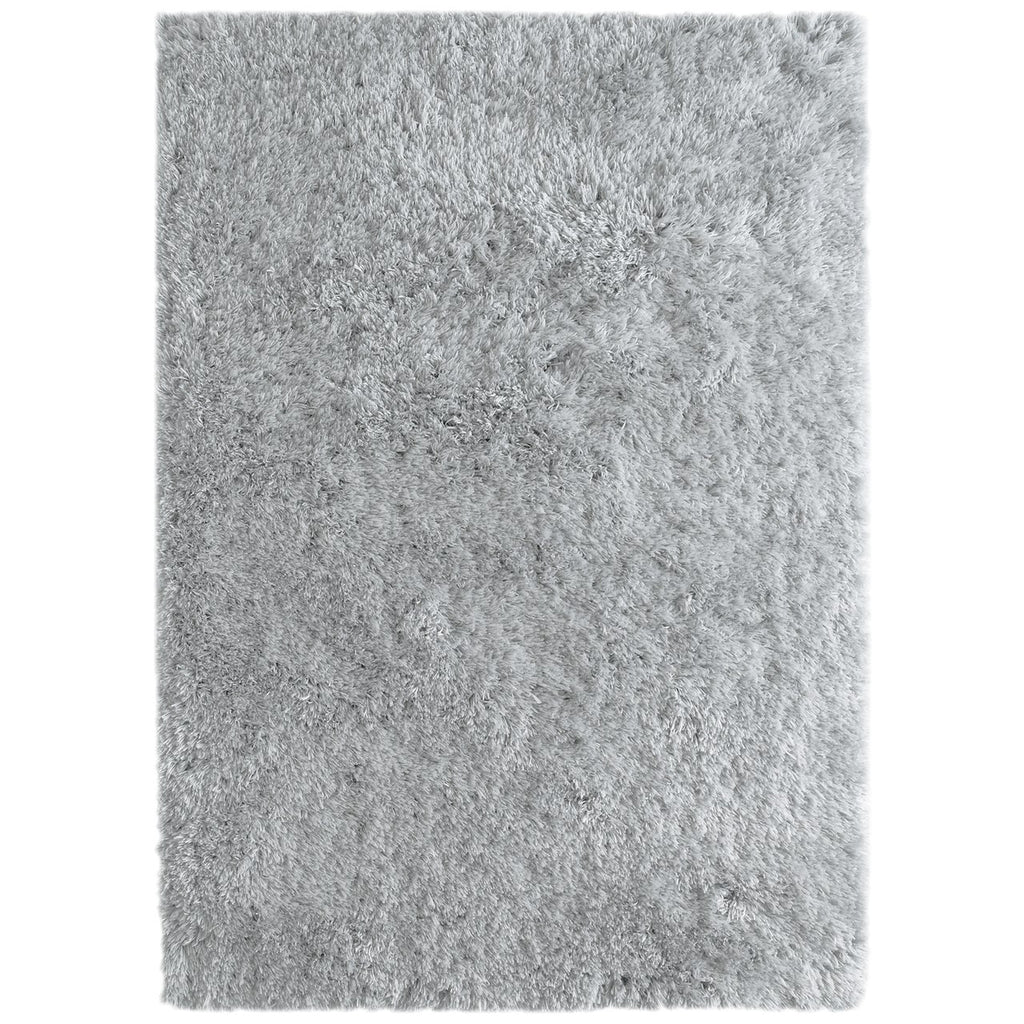 Cozy & Soft Faux Sheepskin Fur Shag Area Rug Silver iCustomRug