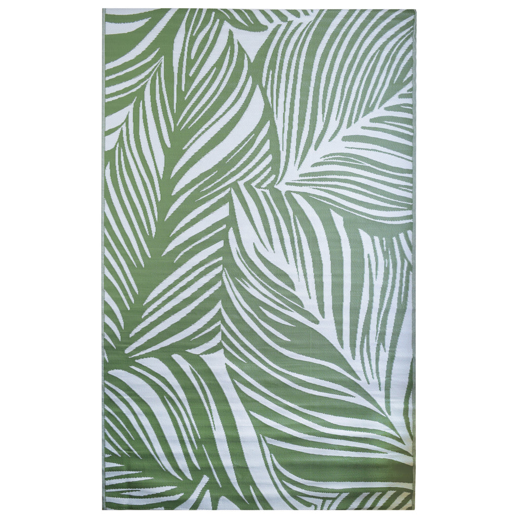 Reversible Outdoor Rug Palm Green