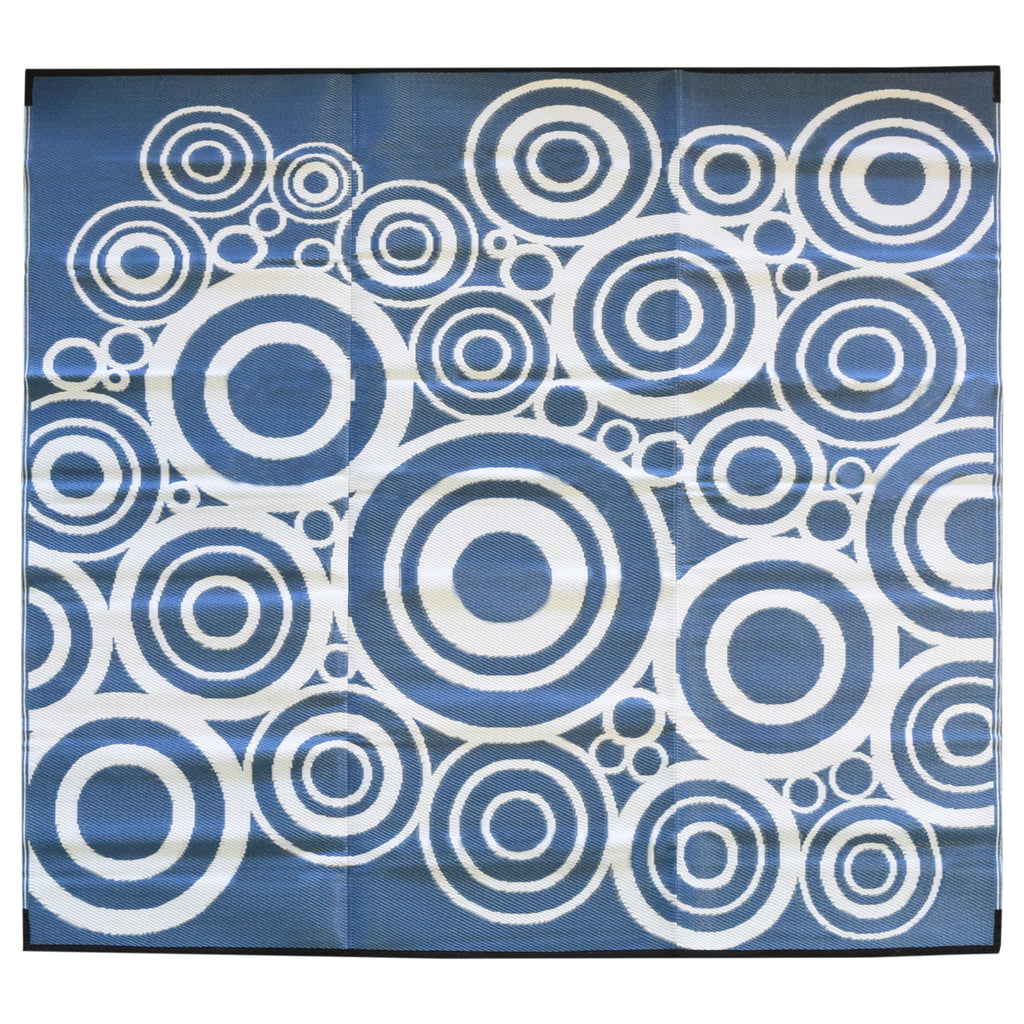 Reversible Square Outdoor Rug Clair Blue