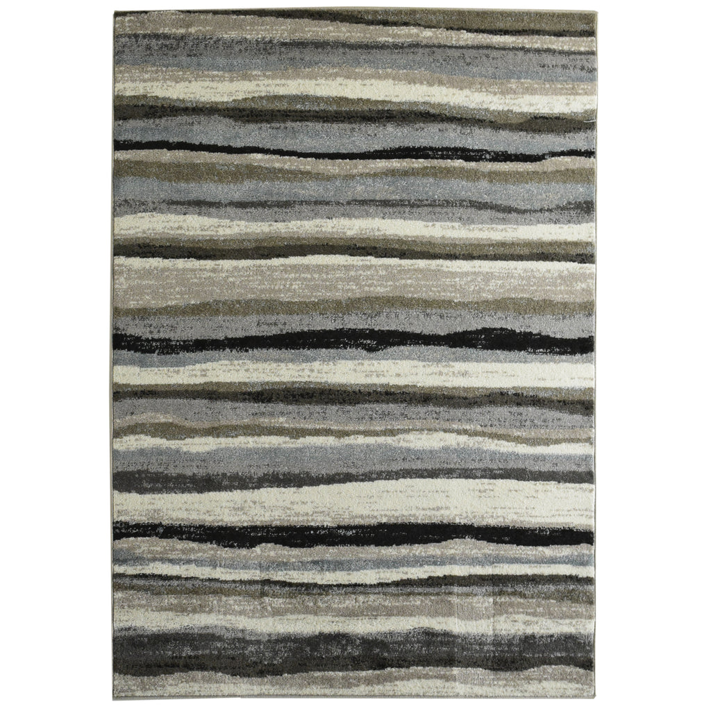 Stripes Neutral Tone Area Rug 4' x 6' iCustomRug