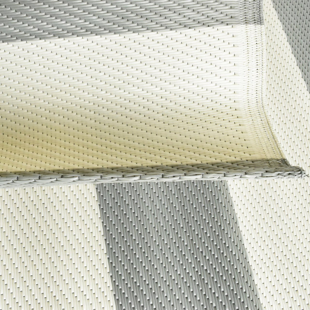 Reversible Outdoor Rug Stripe Grey