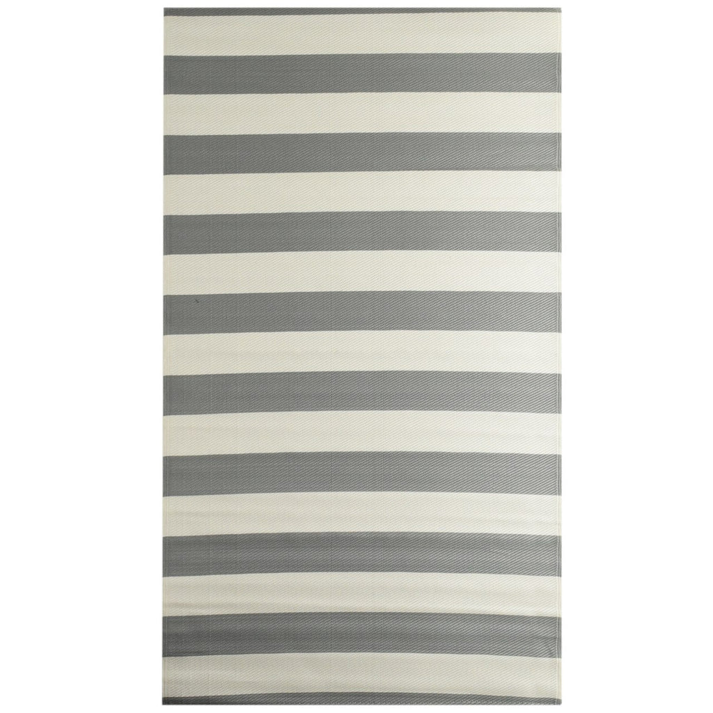 Reversible Outdoor Rug Stripe Grey iCustomRug