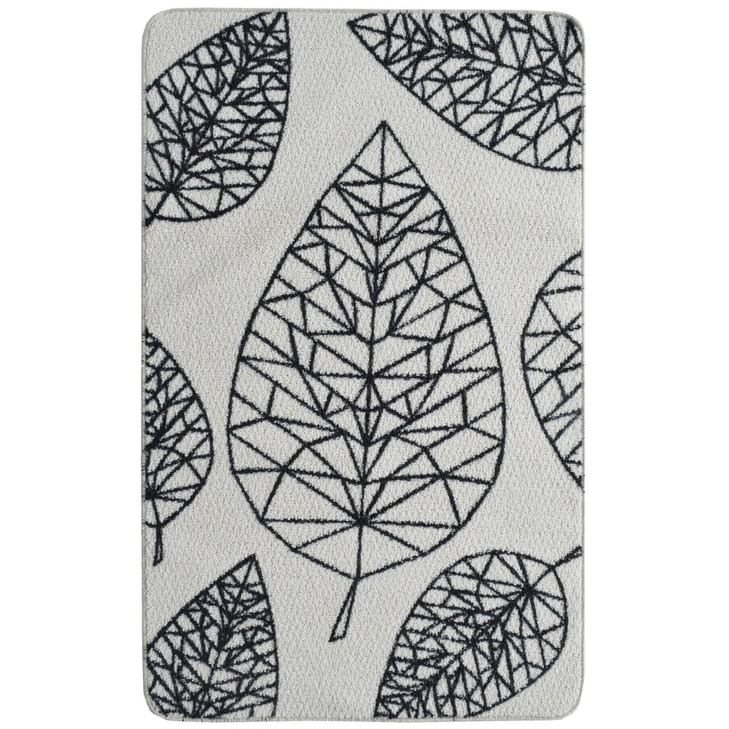 Black Leaf Decorative Mat iCustomRug