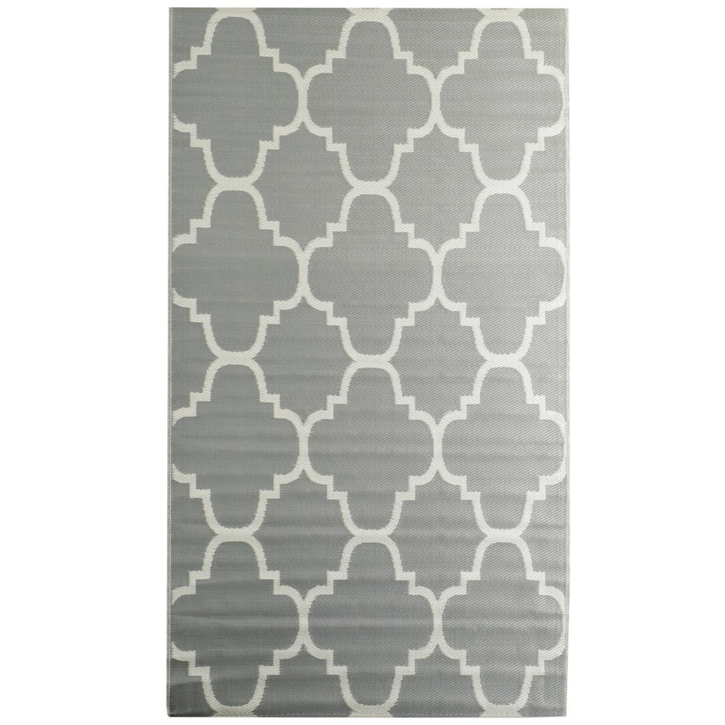 Reversible Outdoor Rug Trellis Grey iCustomRug