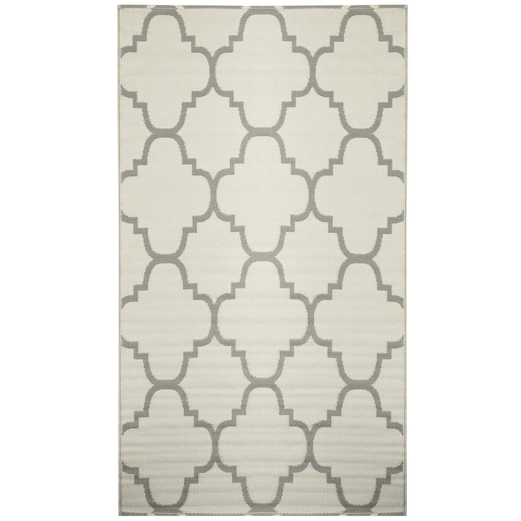 Reversible Outdoor Rug Trellis Grey
