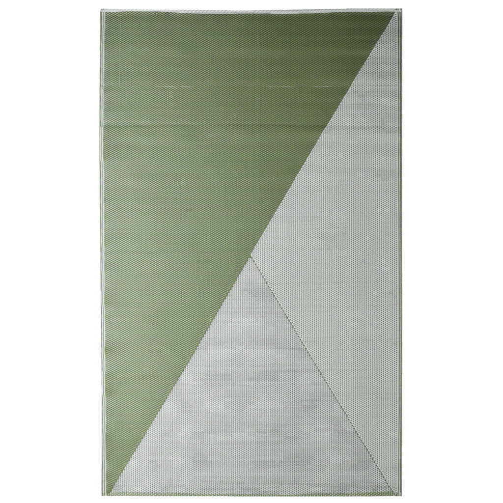 Reversible Outdoor Rug Green and Grey