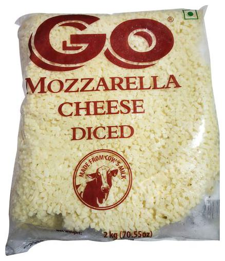 CHEESE MOZZARELLA DICE - GO - 2KG