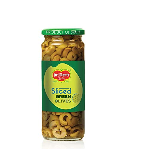 GREEN OLIVES SLICED - DELMONTE- 450GM