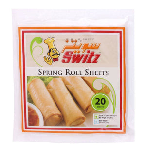 SPRING ROLL PASTRY - SWITZ - 275GM - 20 SHEETS