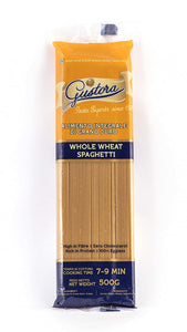 WHOLE WHEAT  PASTA SPAGHETTI - GUSTORA  - 500GMS