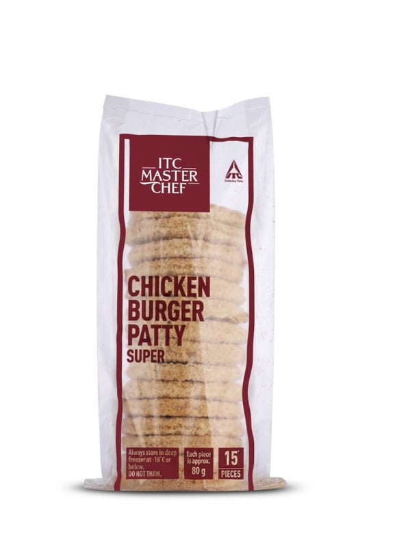 CHICKEN BURGER PATTY SUPER - ITC - 1.2KG