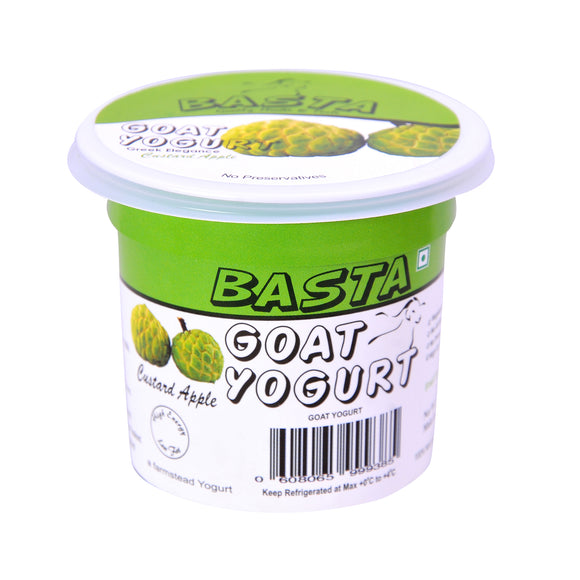 BASTA-GOAT MILK YOGURT CUSTARD APPLE 90G 1CASE - (24PCS)