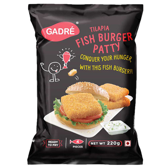 FISH BURGER PATTY  - GADRE - 220GM