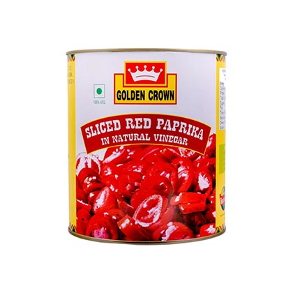 RED PAPRIKA SLICED - GOLDEN CROWN - 3KG