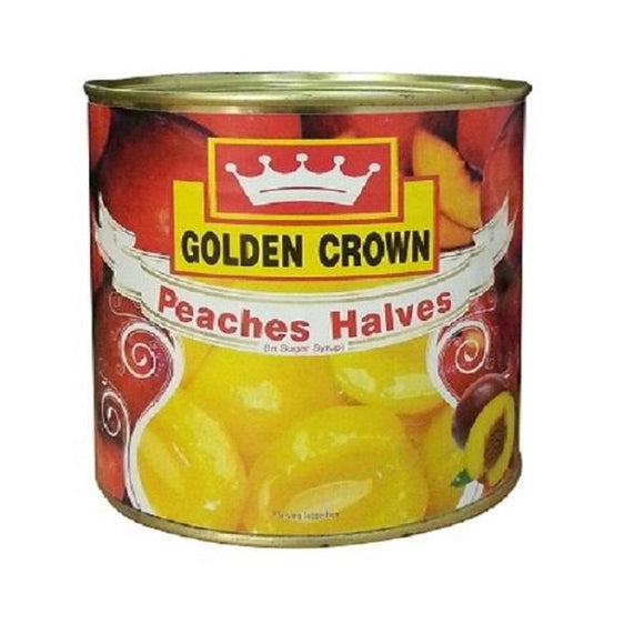 PEACHES IN SYRUP - GOLDEN CROWN - 820gm