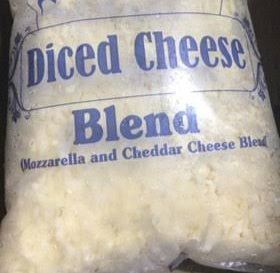 BLEND DICED MOZZARELLA WITH CHEDDAR CHEESE -SONAI DAIRY -2kg
