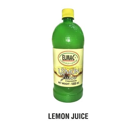 LEMON JUICE - 12 X 1000ML PB - (ELMAC)