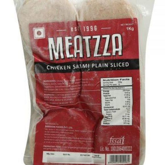 CHICKEN SALAMI SLICED - MEATZAA - 1KG