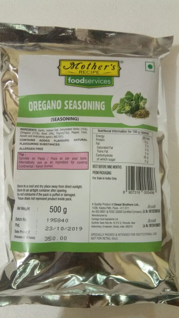 OREGANO SEASONING - MOTHERS - 500GM