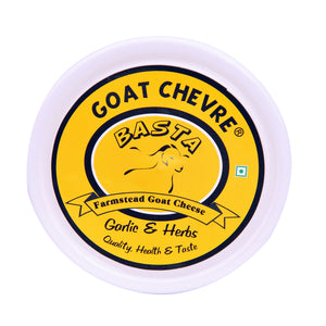 BASTA-GOAT CHEESE CHEVRE-GARLIC & HERBS 1KG