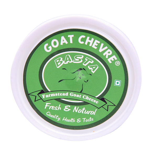 BASTA-GOAT CHEESE CHEVRE-PLAIN & NATURAL 1KG