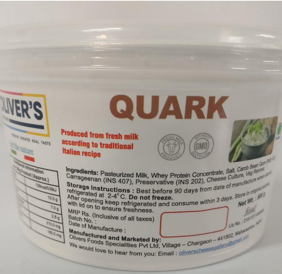 QUARK CHEESE-OLIVER
