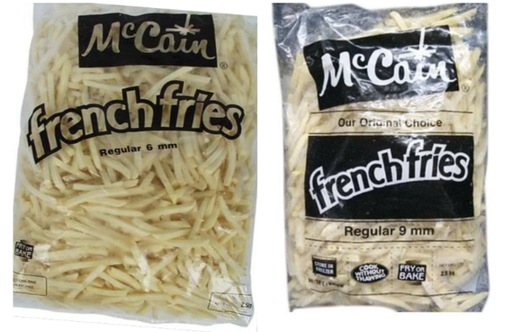 A GRADE FRENCH FRIES (6mm)-(9mm)-MCCAIN