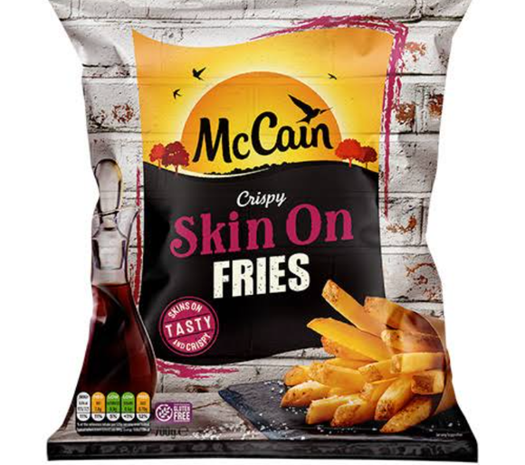 FRENCH FRIES  SKIN ON 11 MM -MCCAIN