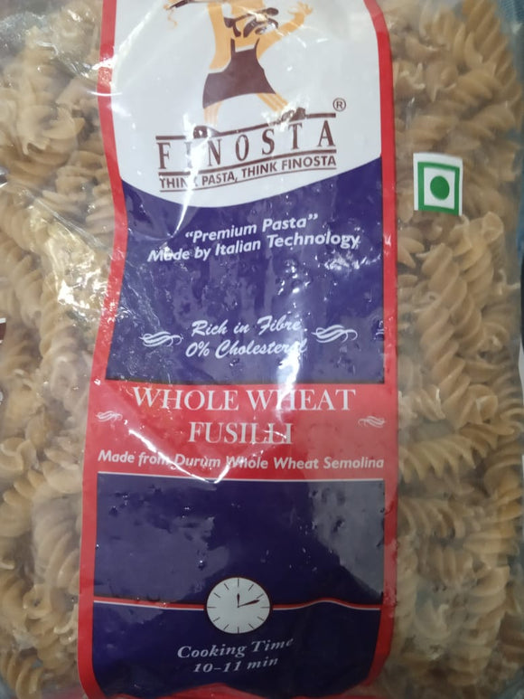 WHOLE WHEAT FUSILLI PASTA - FINO - 500gm