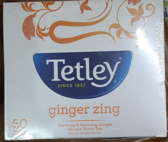 TETLEY GINGER TEA BAGS - 50 BAG
