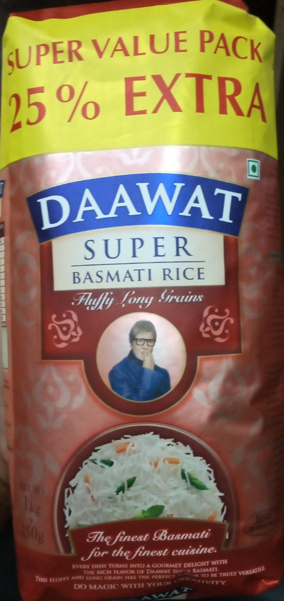 BASMATI RICE LONG GRAIN - DAAWAT - 1KG