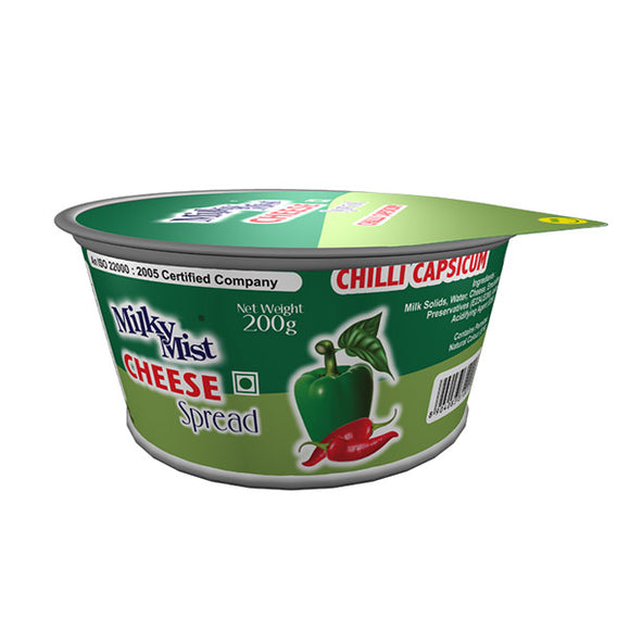 CHEESE SPREAD -CHILLI CAPSIUM- MILKYMIST - 180GMS