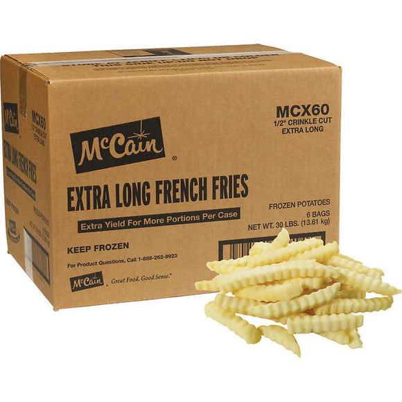 FRENCH FRIES - MCCAIN CRINKLE CUT - 1 BOX