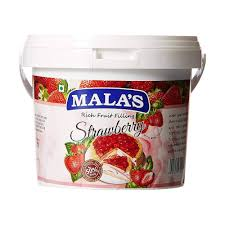 STRAWBERRY RICH  FRUIT FILLING - MALAS - 1KG